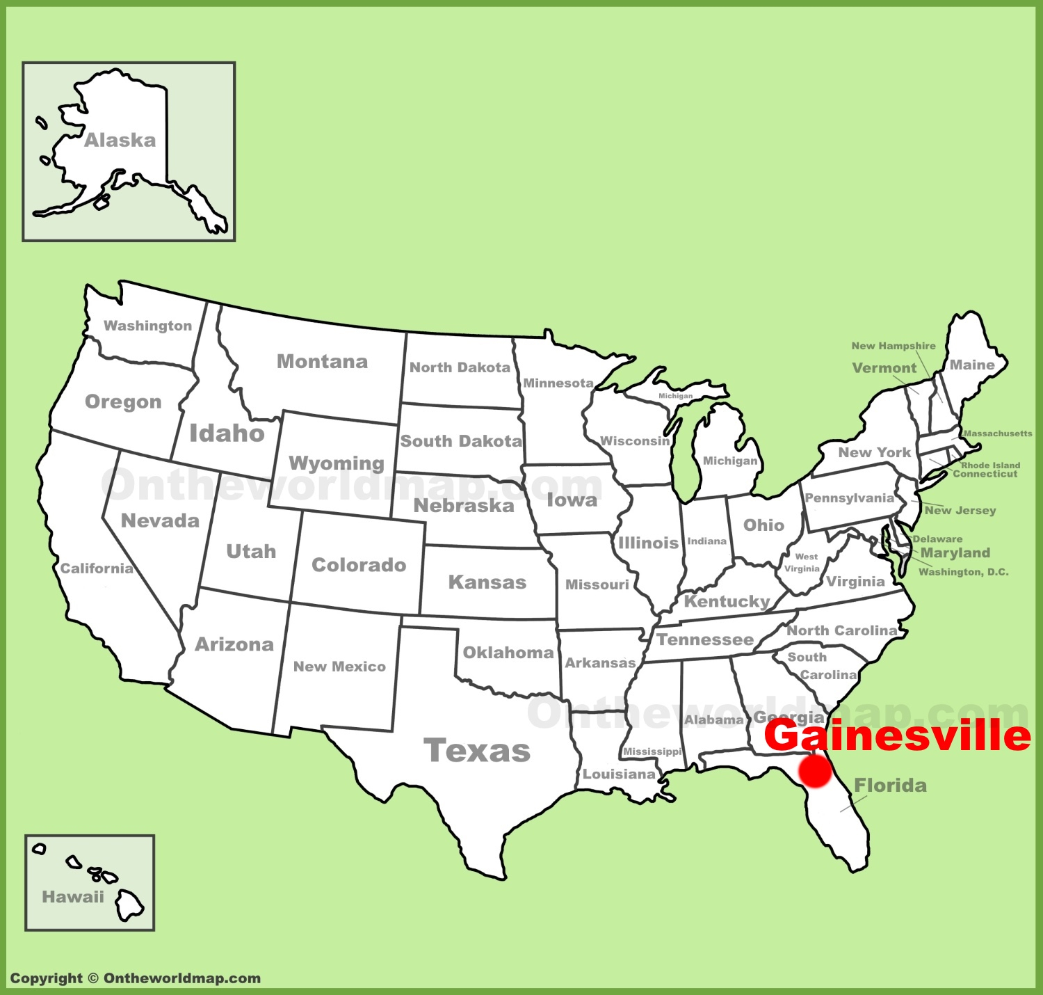 Gainesville Location On The U.s. Map - Map Of Gainesville Florida Area