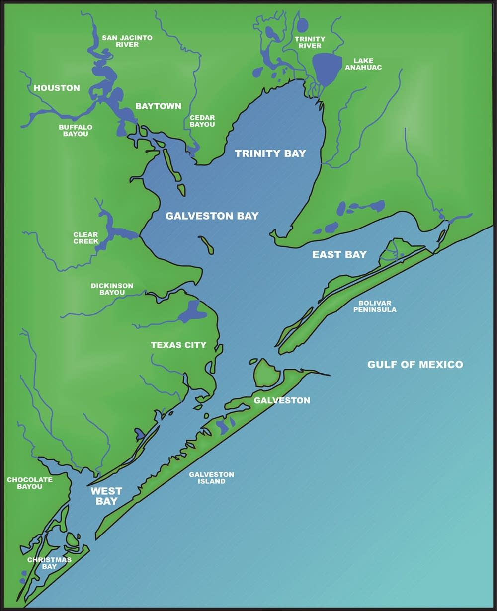 Galveston Bay | The Handbook Of Texas Online| Texas State Historical - Map Of Galveston Texas