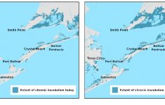 Galveston County, Texas, Faces Sea Level Rise And Storms | Union Of – Texas Beaches Map