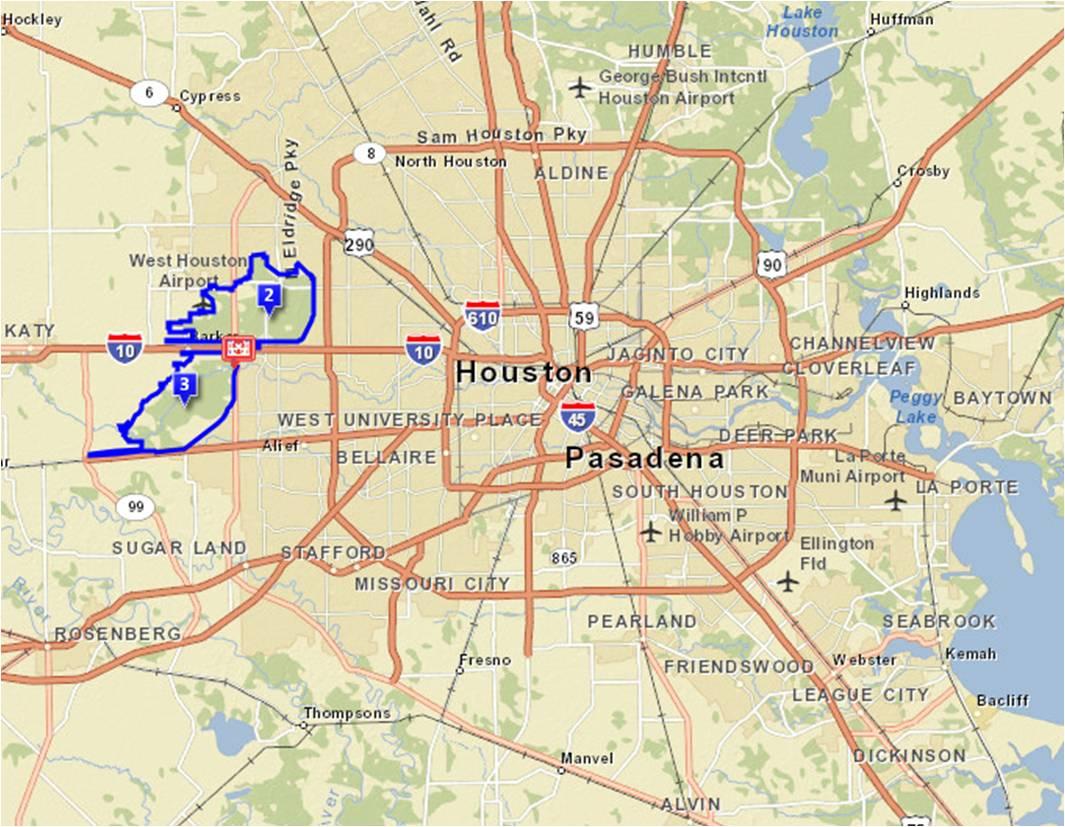 Galveston District > Missions > Dam Safety Program - Barker Texas Map