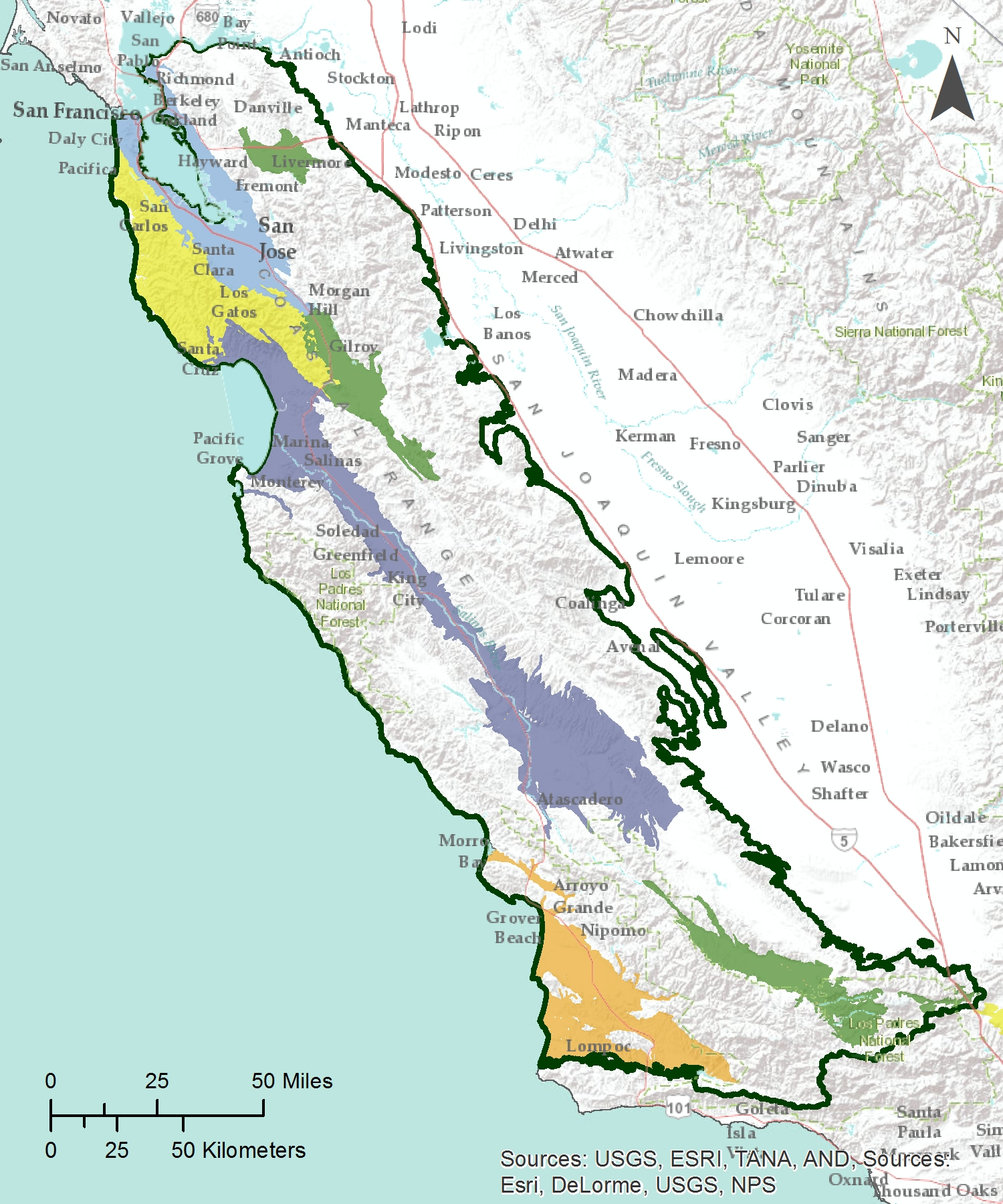 Gama: Groundwater Ambient Monitoring And Assessment - Map Of Southern California Coast