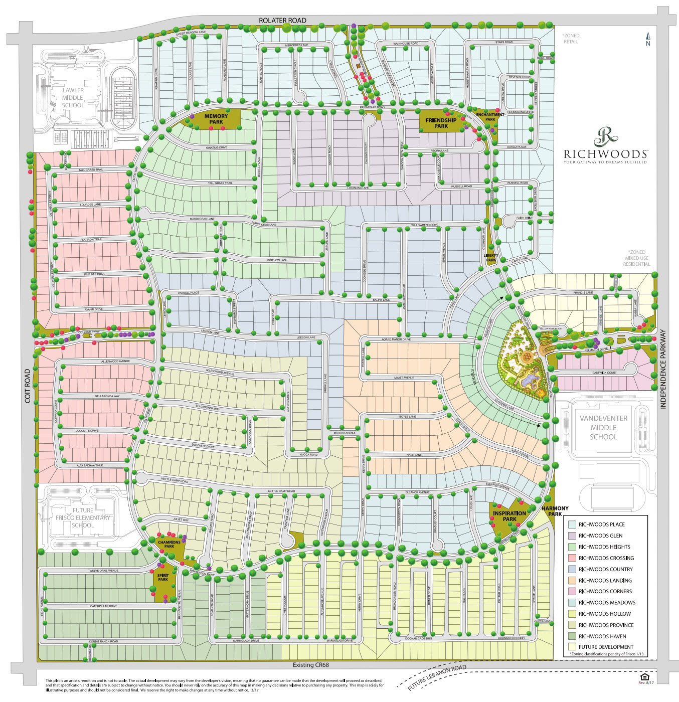 Gated Home Communities In Frisco Tx | Richwoods | Community Map - Map Of Texas Showing Frisco