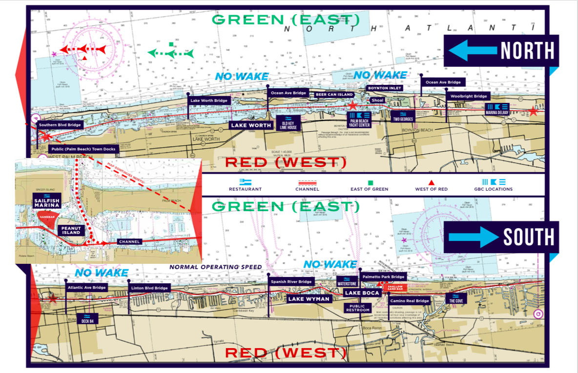 Gbc's Custom Intracoastal Waterway Map - Intracoastal Waterway Florida Map