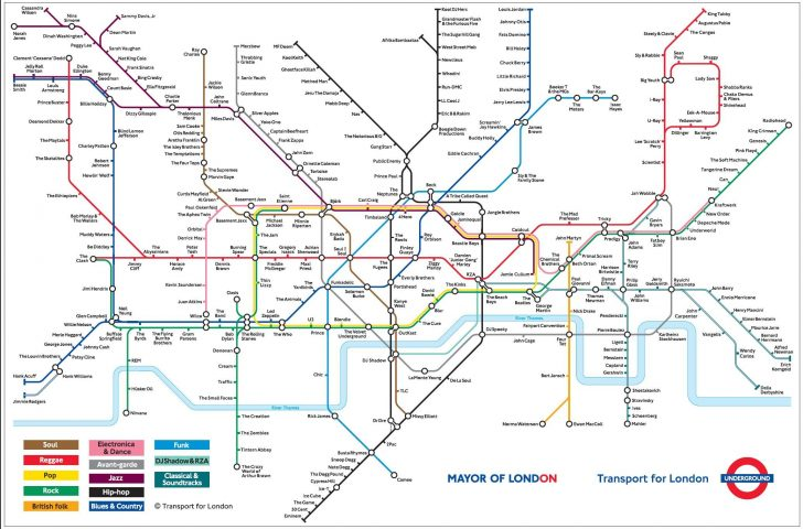 London Metro Map Printable
