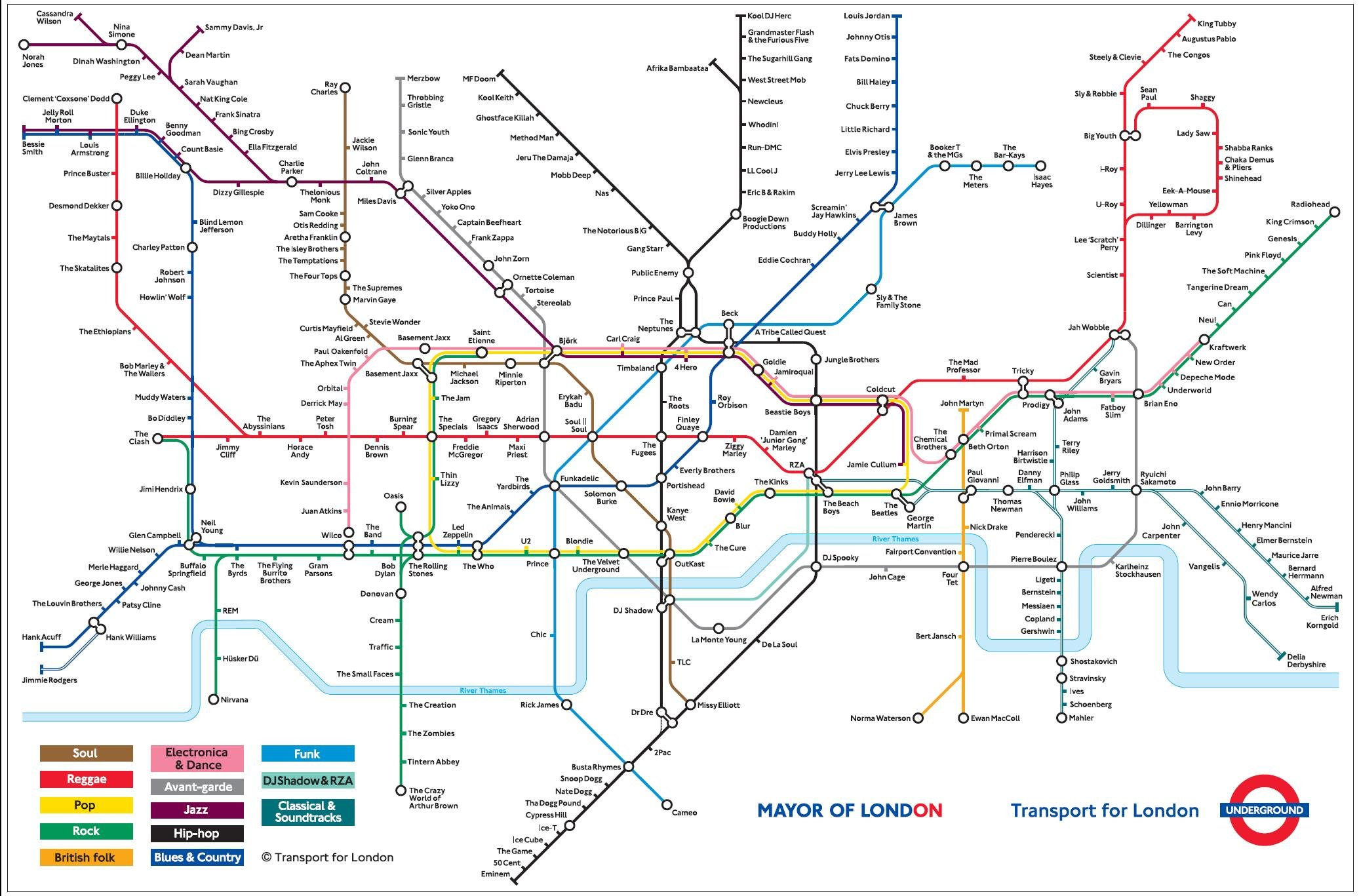 Geofftech - Tube - Silly Tube Maps - London Metro Map Printable