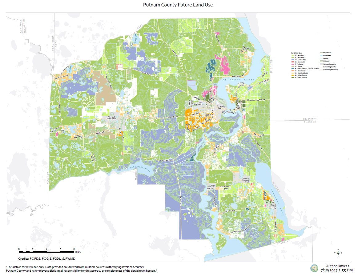 Geographic Information Services – Putnam County, Florida - Florida Land Use Map