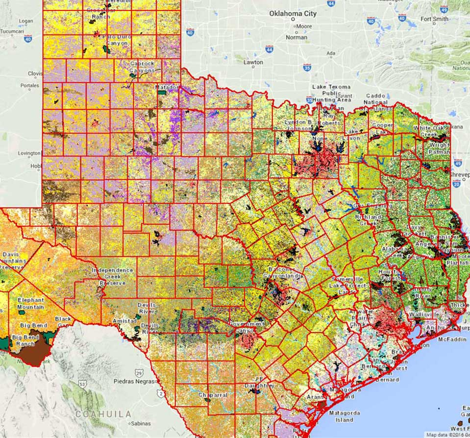 Geographic Information Systems (Gis) - Tpwd - Texas Land Survey Maps Online
