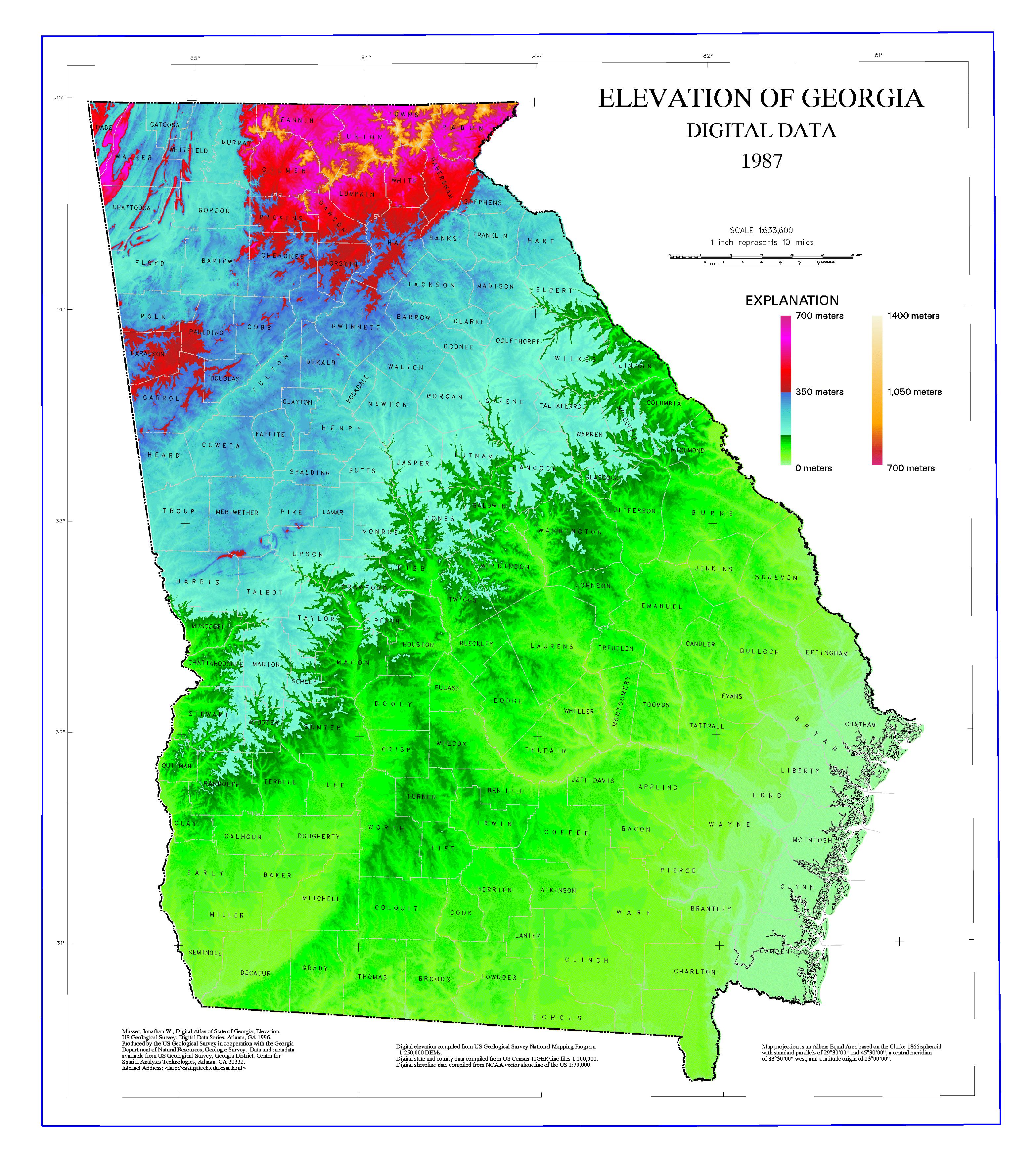 Geography Of Georgia (U.s. State) - Wikipedia - Map Of Northeast Florida And Southeast Georgia