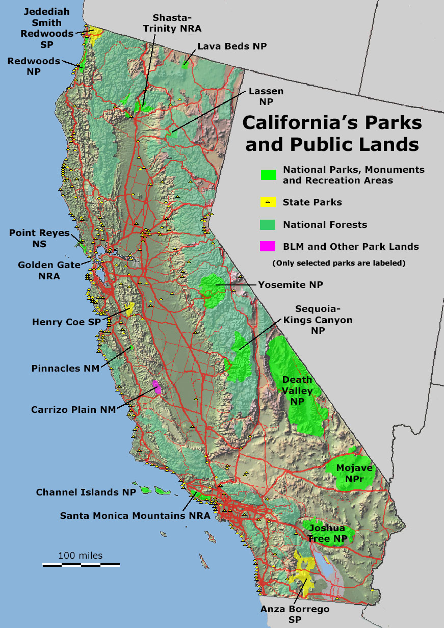 Geology Cafe - California Public Lands Map