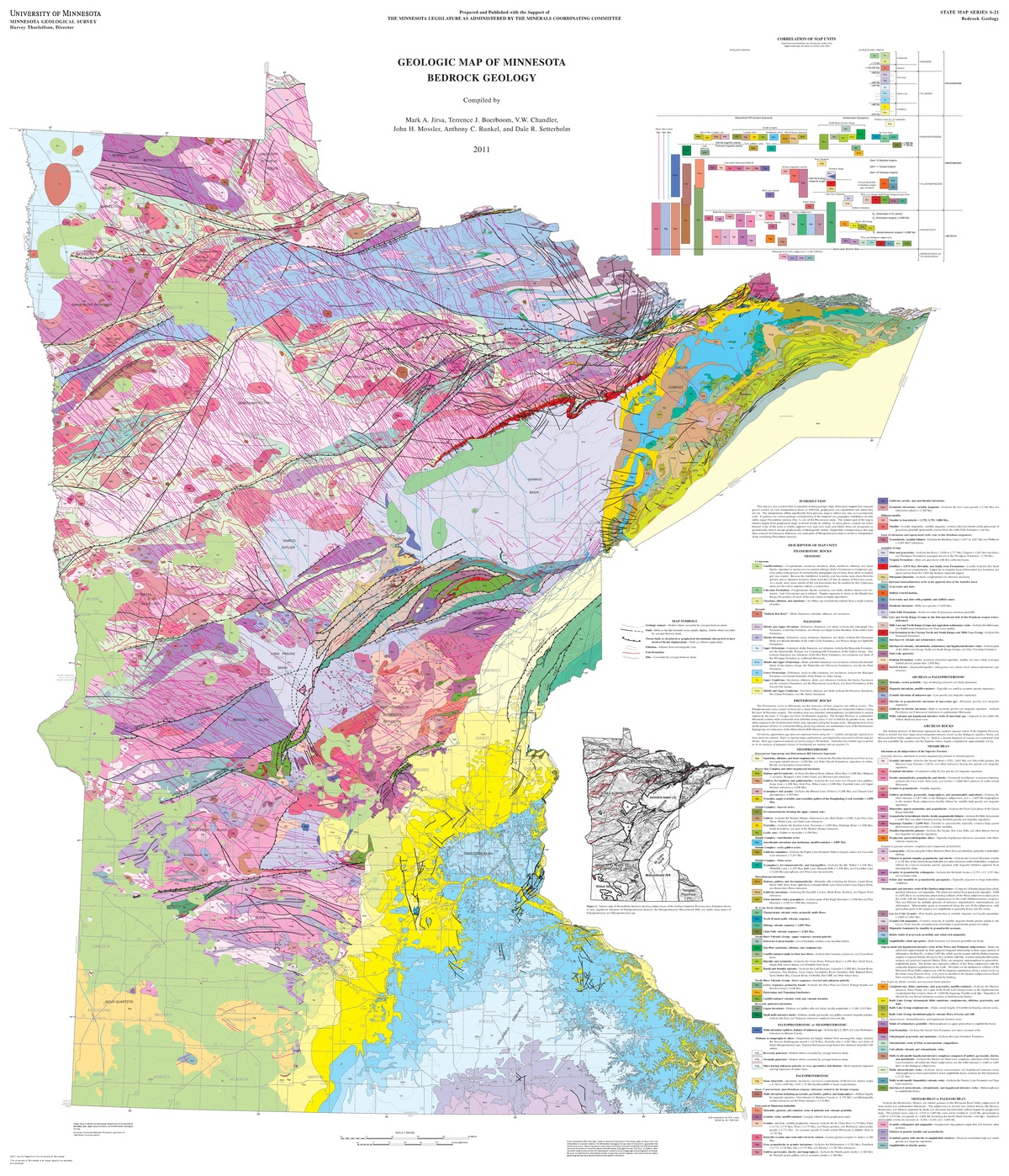 Geology Of Minnesota - Wikipedia - Printable Lake Minnetonka Map