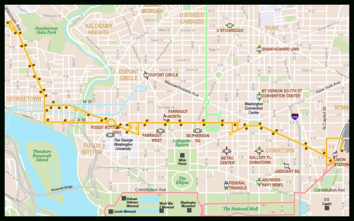 Printable Street Map Of Washington Dc