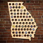 Georgia Beer Cap Map   Florida Beer Cap Map