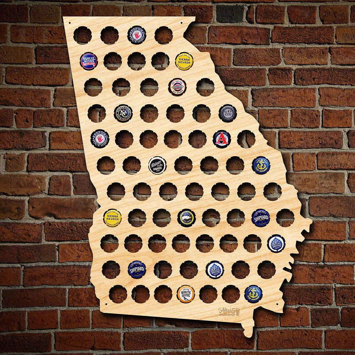 Georgia Beer Cap Map - Florida Beer Cap Map