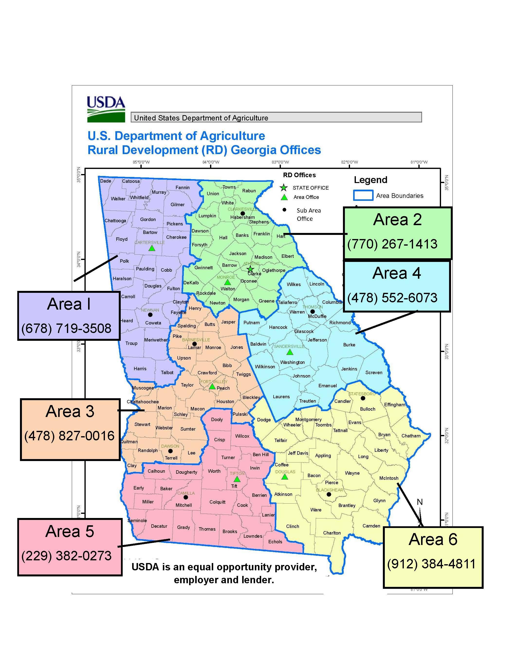 Georgia | Usda Rural Development - Usda Loan Map Texas
