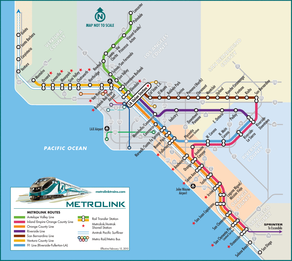 Getting To Little Tokyo California Map With Cities California Amtrak - Amtrak California Map