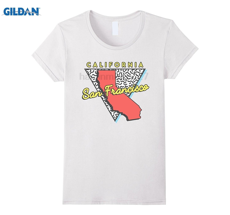Gildan San Francisco Ca T Shirt Map Retro California Souvenir-In T - California Map Shirt