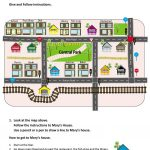 Give And Follow Directions On A Map Worksheet   Free Esl Printable   Printable Map Directions