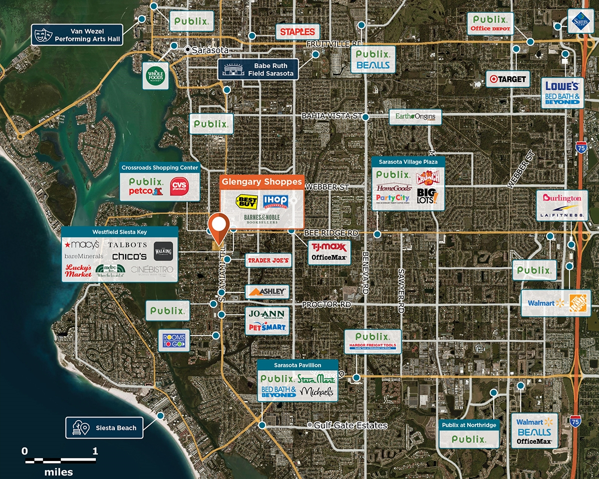 Glengary Shoppes, Sarasota, Fl 34231 – Retail Space | Regency Centers - Map Of Sarasota Florida Neighborhoods