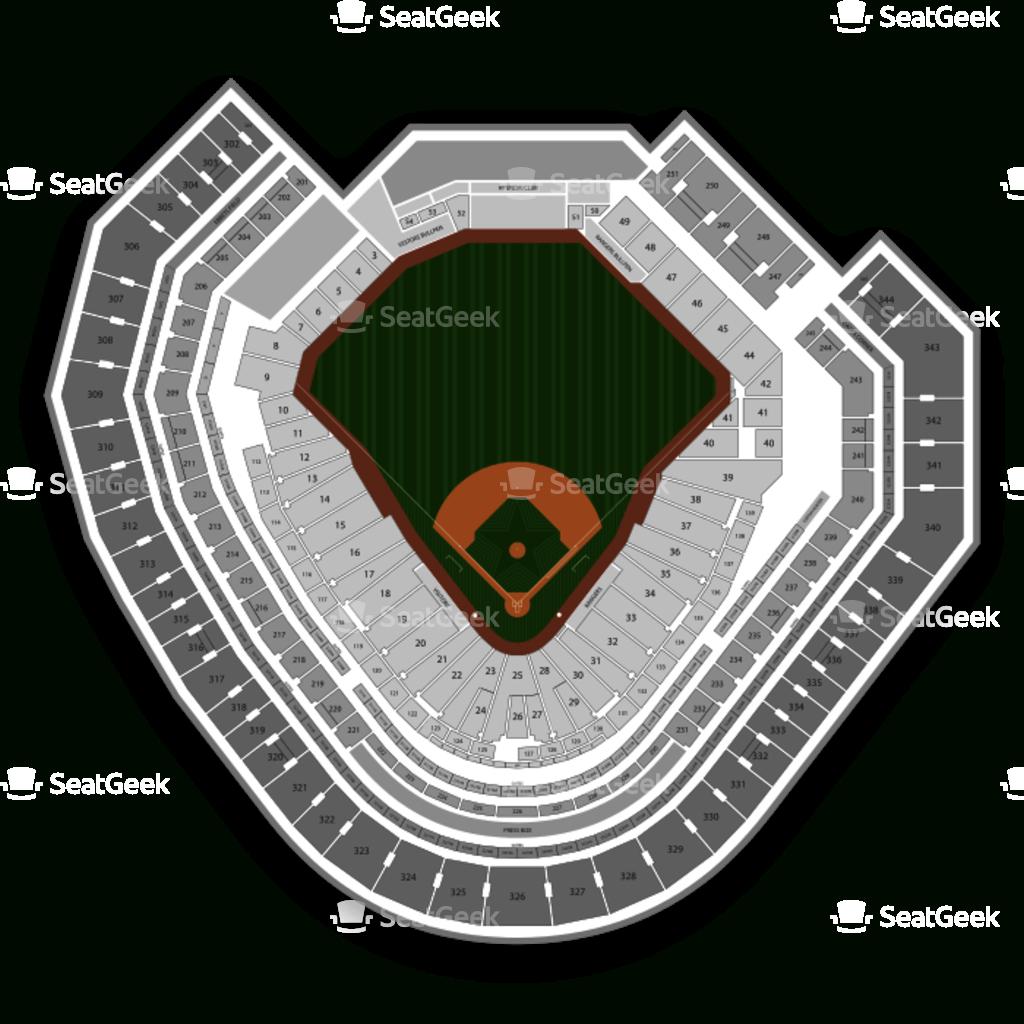 Globe Life Park Seating Chart | Seatgeek - Texas Rangers Ballpark Map