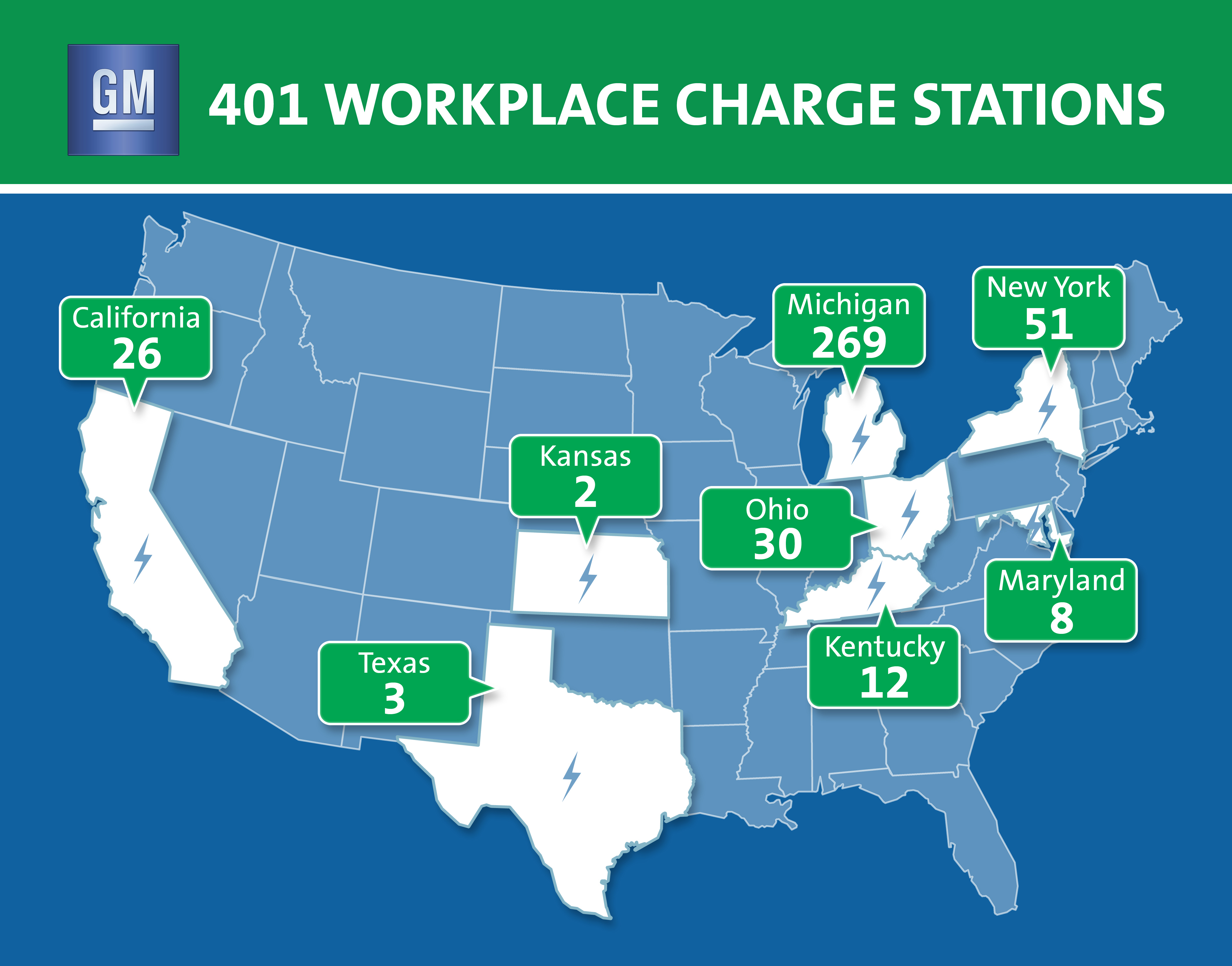 Gm Surpasses 400 Ev Charge Stations At U.s. Facilities - Charging Station Map California