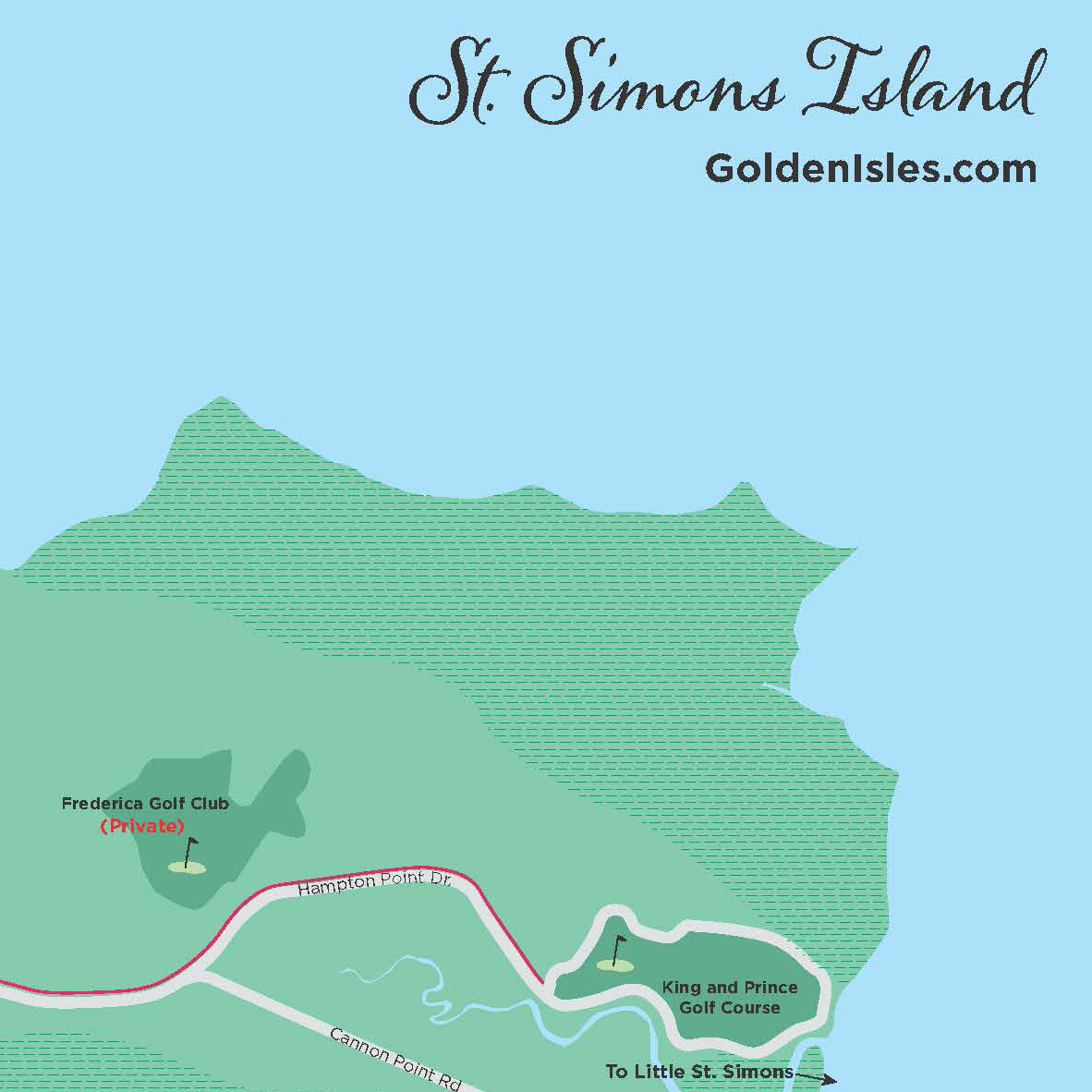 Golden Isles Maps | Golden Isles, Georgia - Printable Map Of St Simons Island Ga