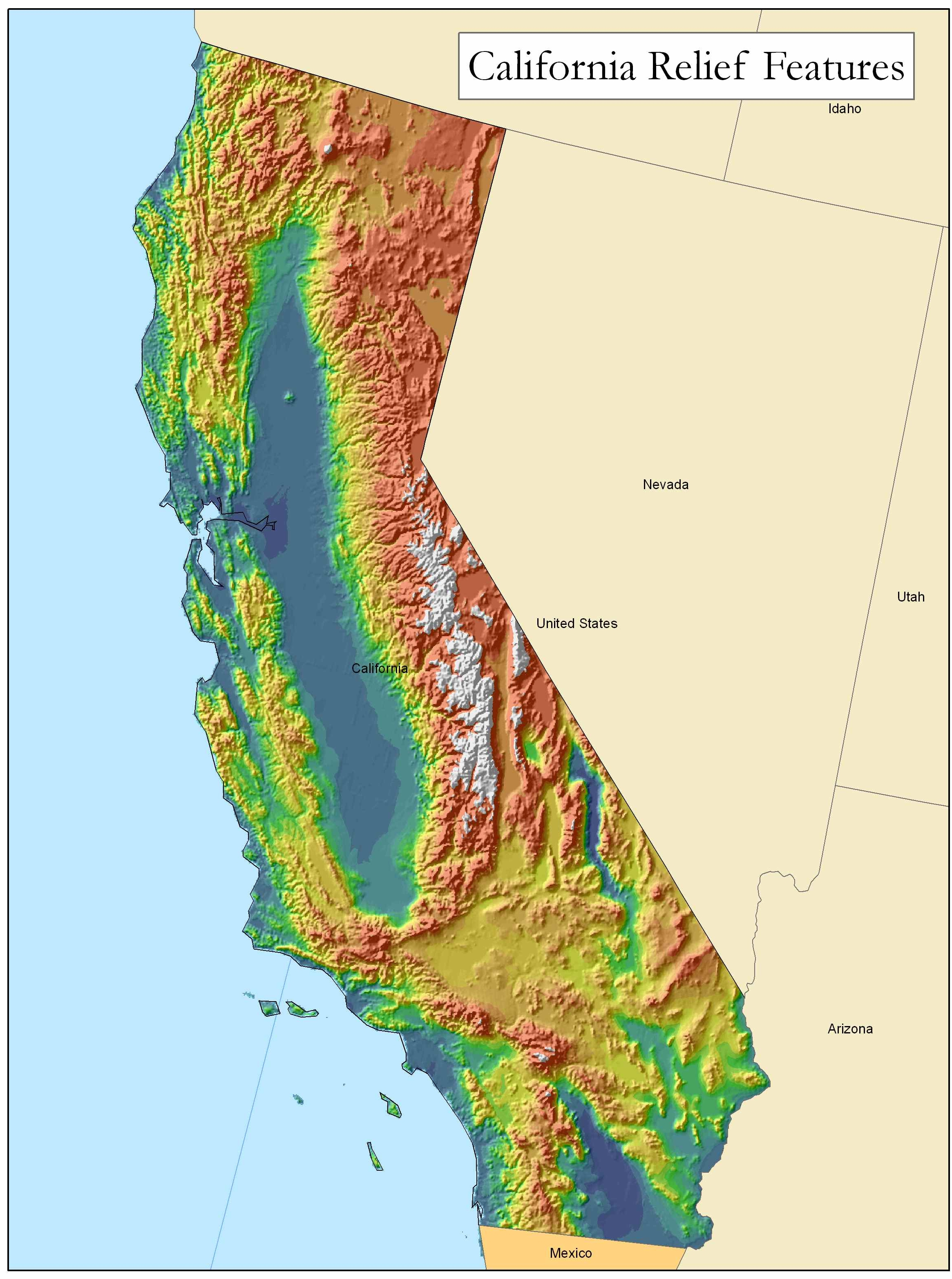 Golden State Online - California Geography Map
