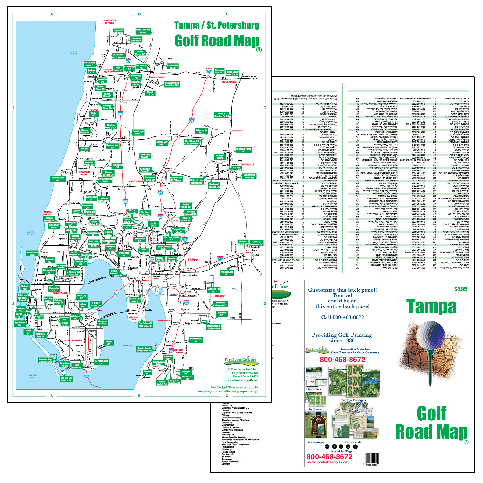 Golf Maps – Fore Better Golf, Inc. - Map Of Central Florida Golf Courses