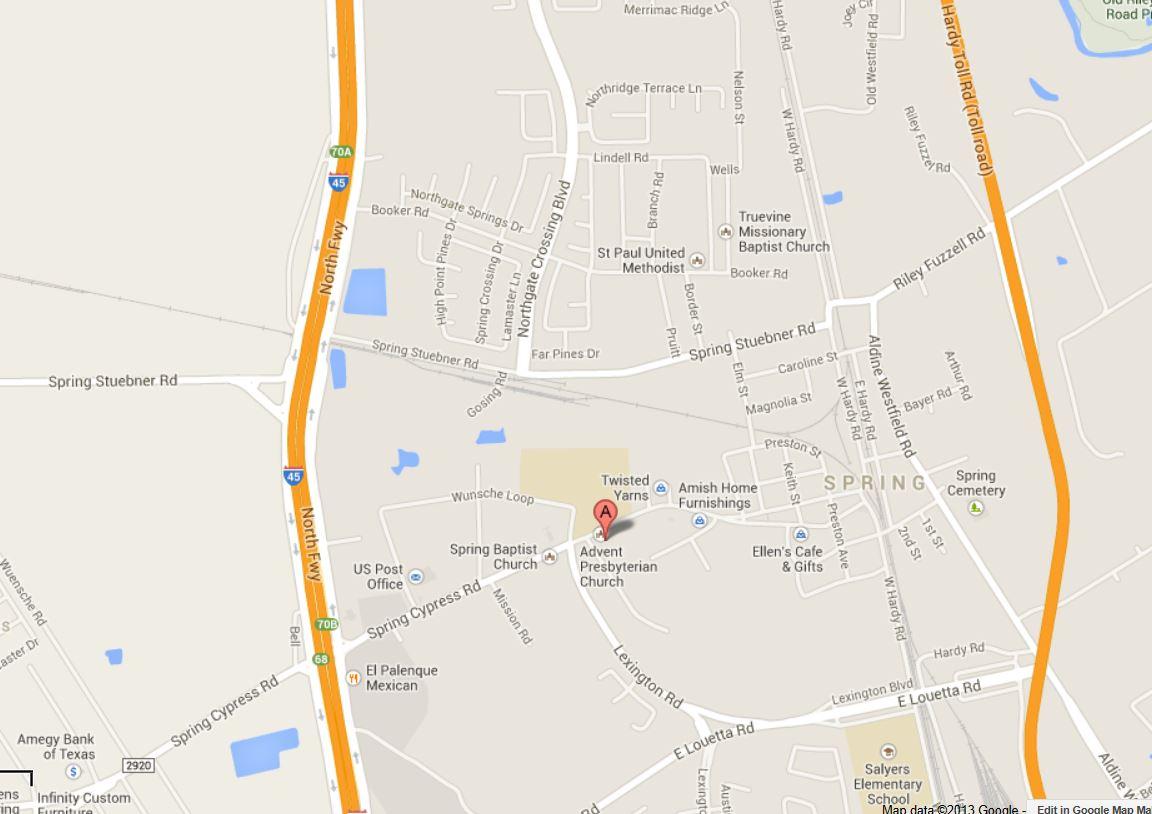 Google Map - Apcspring - Google Maps Spring Texas