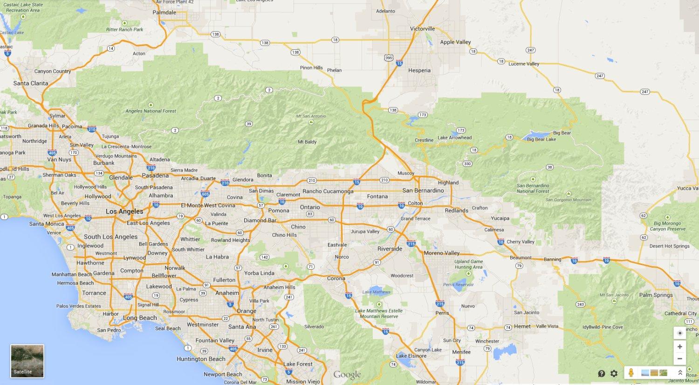 Google Map Los Angeles California - Klipy - Los Angeles California Google Maps