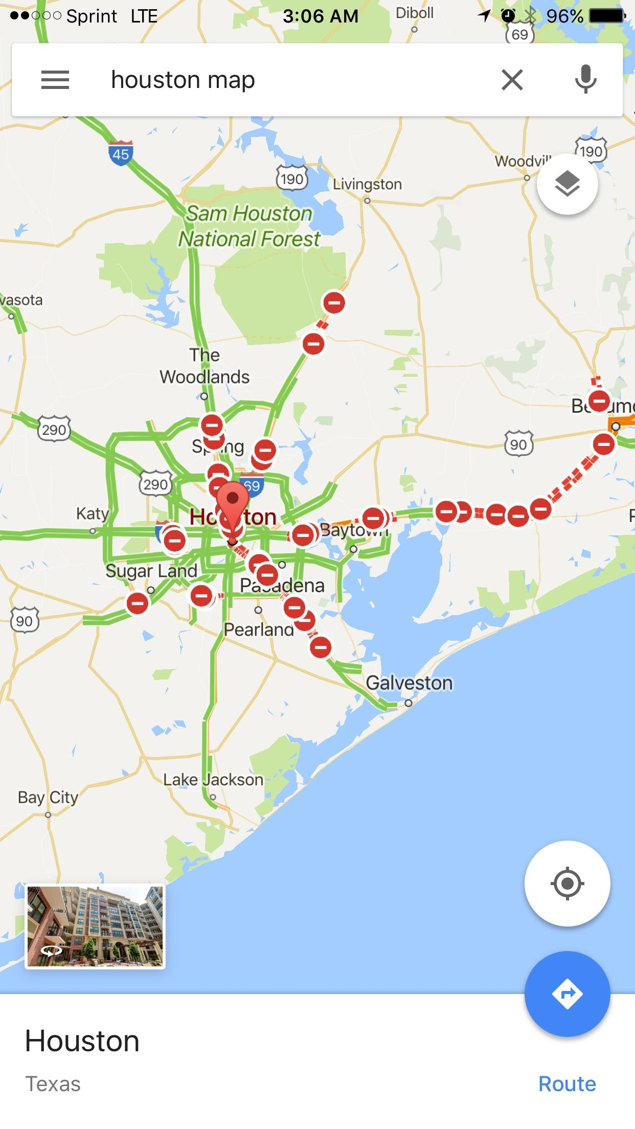 Google Map Of All The Roads Closed In Texas Due To Hurricane Harvey - Google Maps Galveston Texas