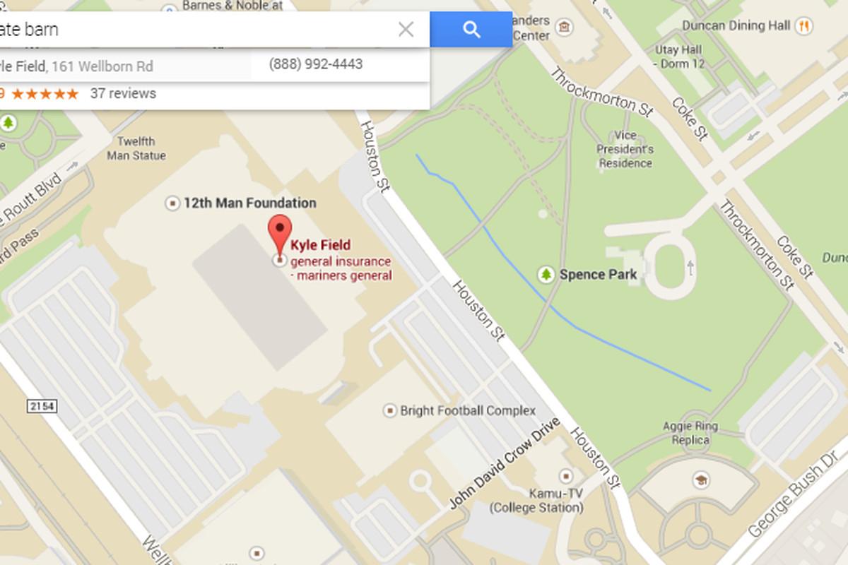 Google Maps Analyzes College Football - Good Bull Hunting - Google Maps Lubbock Texas