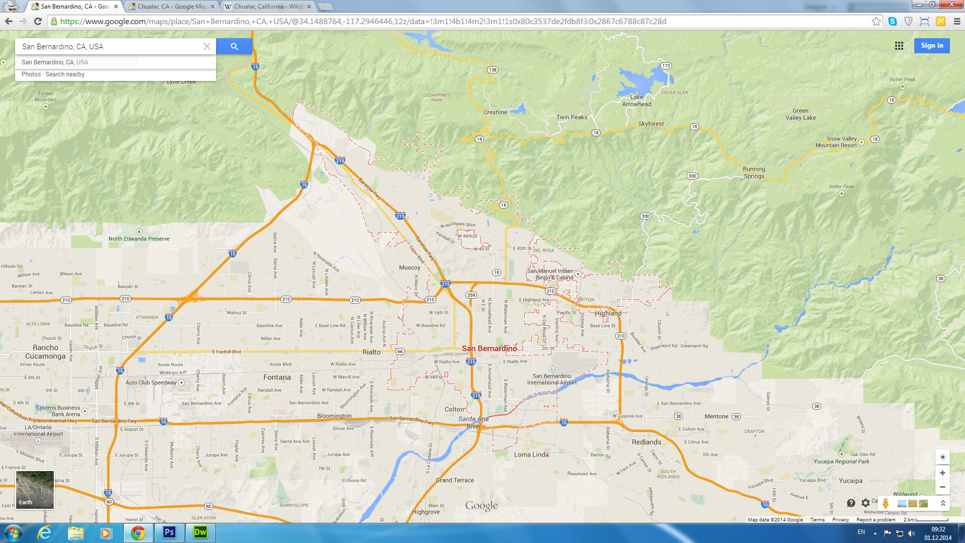 Google Maps California Cities Detailed San Bernardino California Map - Google Maps California Cities