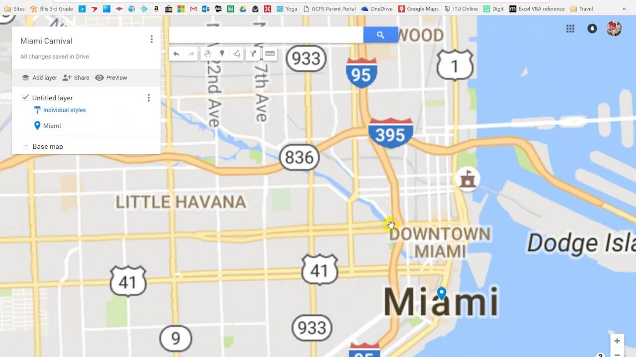 Google Maps Miami Carnival Tutorial - Youtube - Google Maps Miami Florida