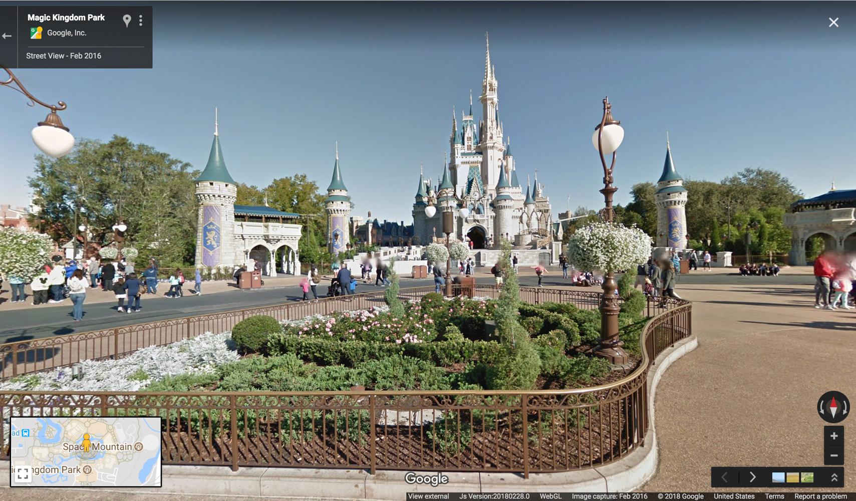 Google Maps Now Has 11 Disney Parks On Street View | Travel + Leisure - Disney World Florida Map 2018
