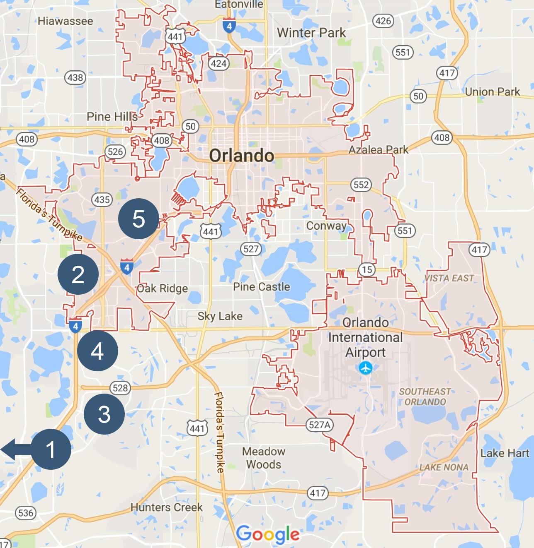 Google Maps Orlandosite Imageorlando Google Maps - States Map With - Google Maps Orlando Florida