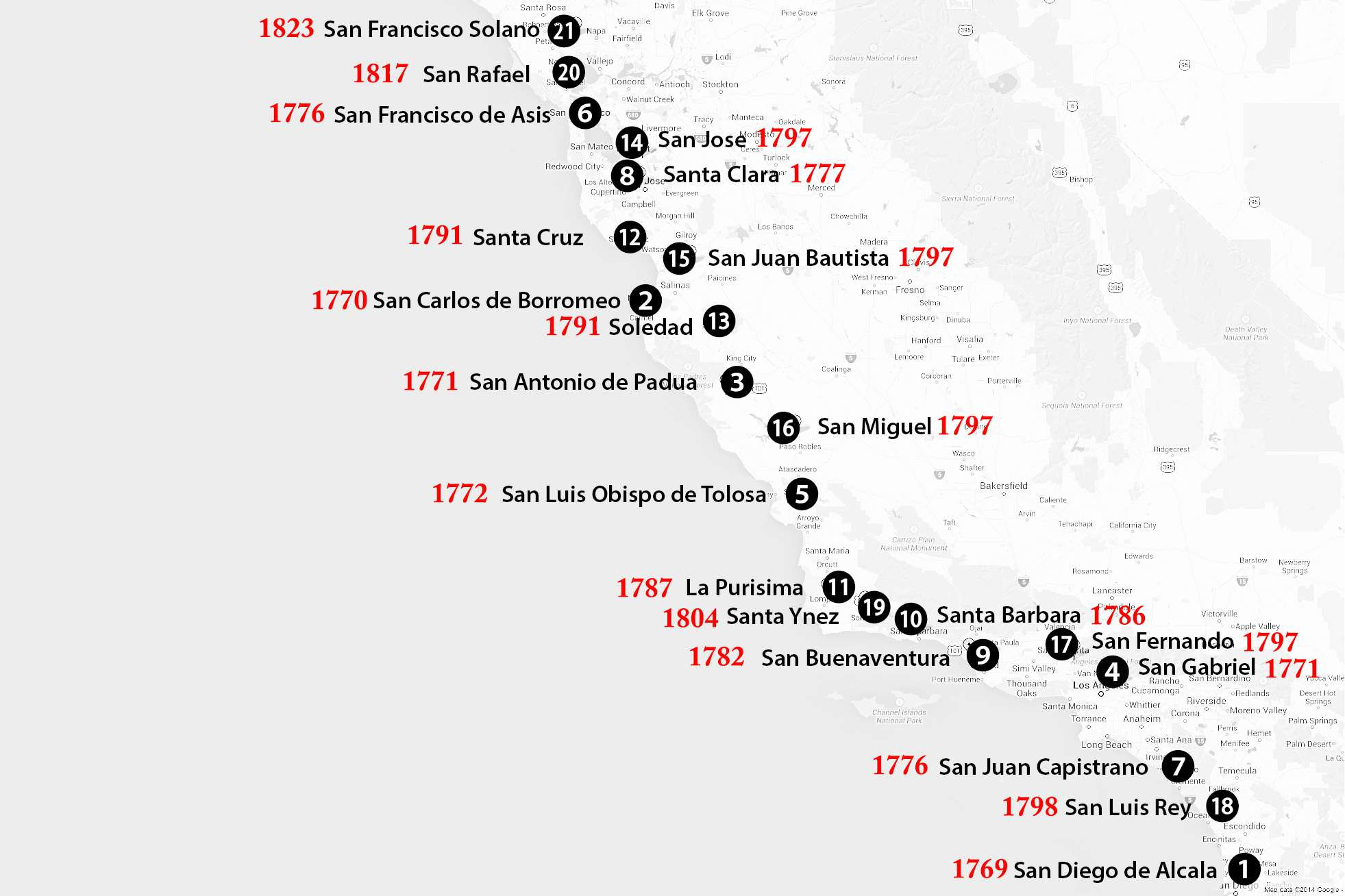 Google Maps Santa Barbara California Detailed California Missions - Google Maps Santa Cruz California
