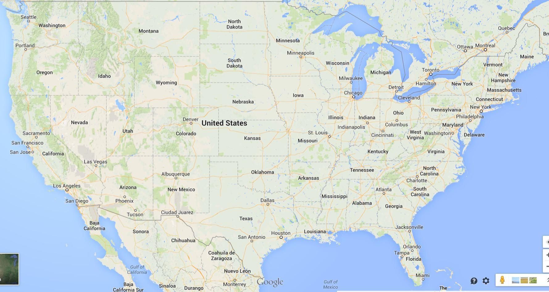 Google Maps Usa States And Travel Information | Download Free Google - South Florida Map Google
