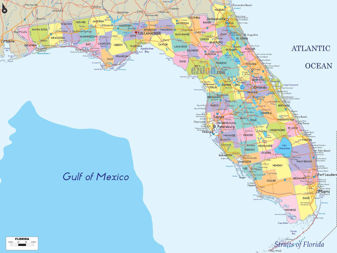 Google Maps Usa States Florida Usa And Canada Map Ï ¿ | Travel Maps - Google Maps Vero Beach Florida