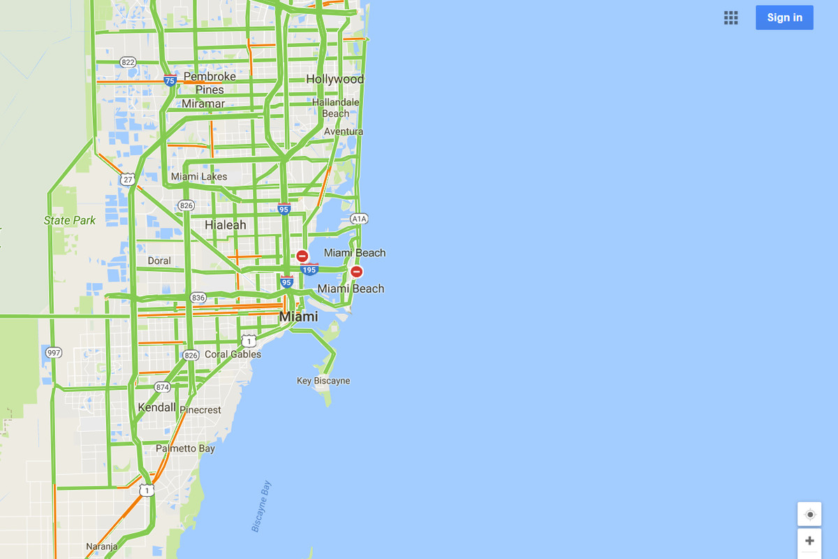 Google Maps Will Mark Closed Roads Live As Hurricane Irma Hits - Florida Road Map Google