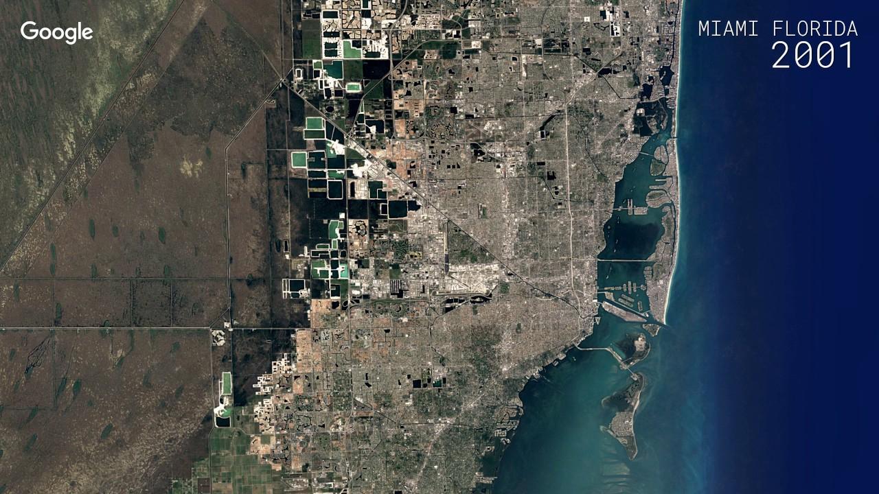 Google Timelapse: Miami, Florida - Youtube - Google Map Miami Florida