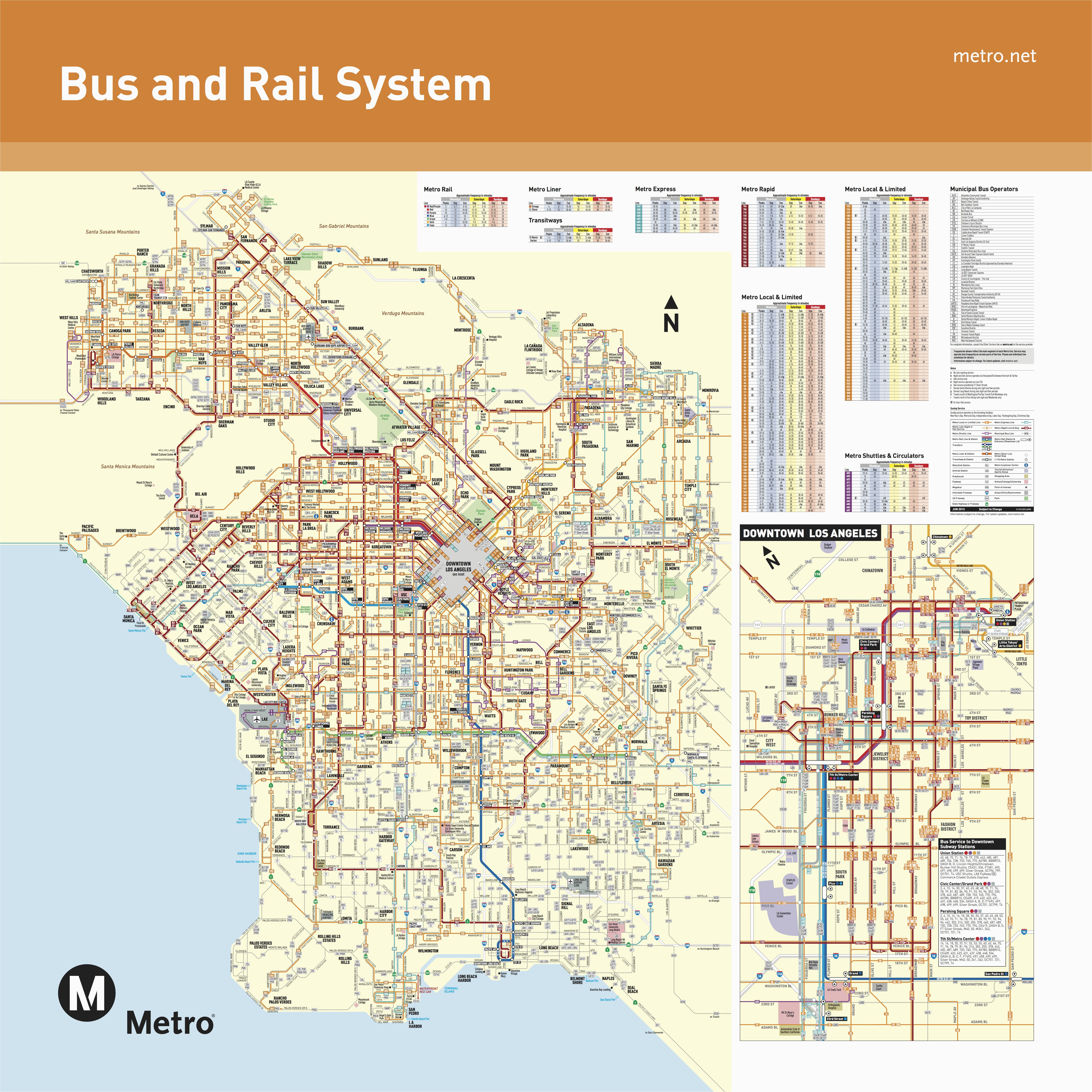 Granada Hills California Map June 2016 Bus And Rail System Maps - Granada Hills California Map