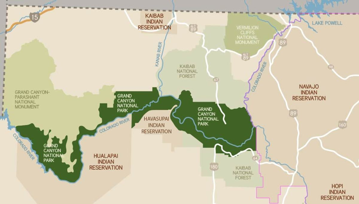 Grand Canyon's Native American Tribes And Indian Nations - My Grand - Texas Indian Tribes Map