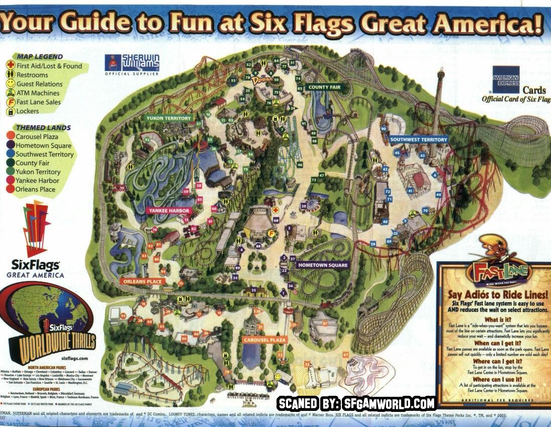 Great America California Map - Klipy - California's Great America Map