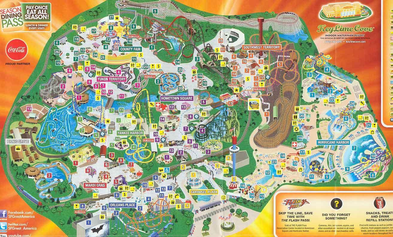 Great America California Map - Klipy - Six Flags Map California 2018