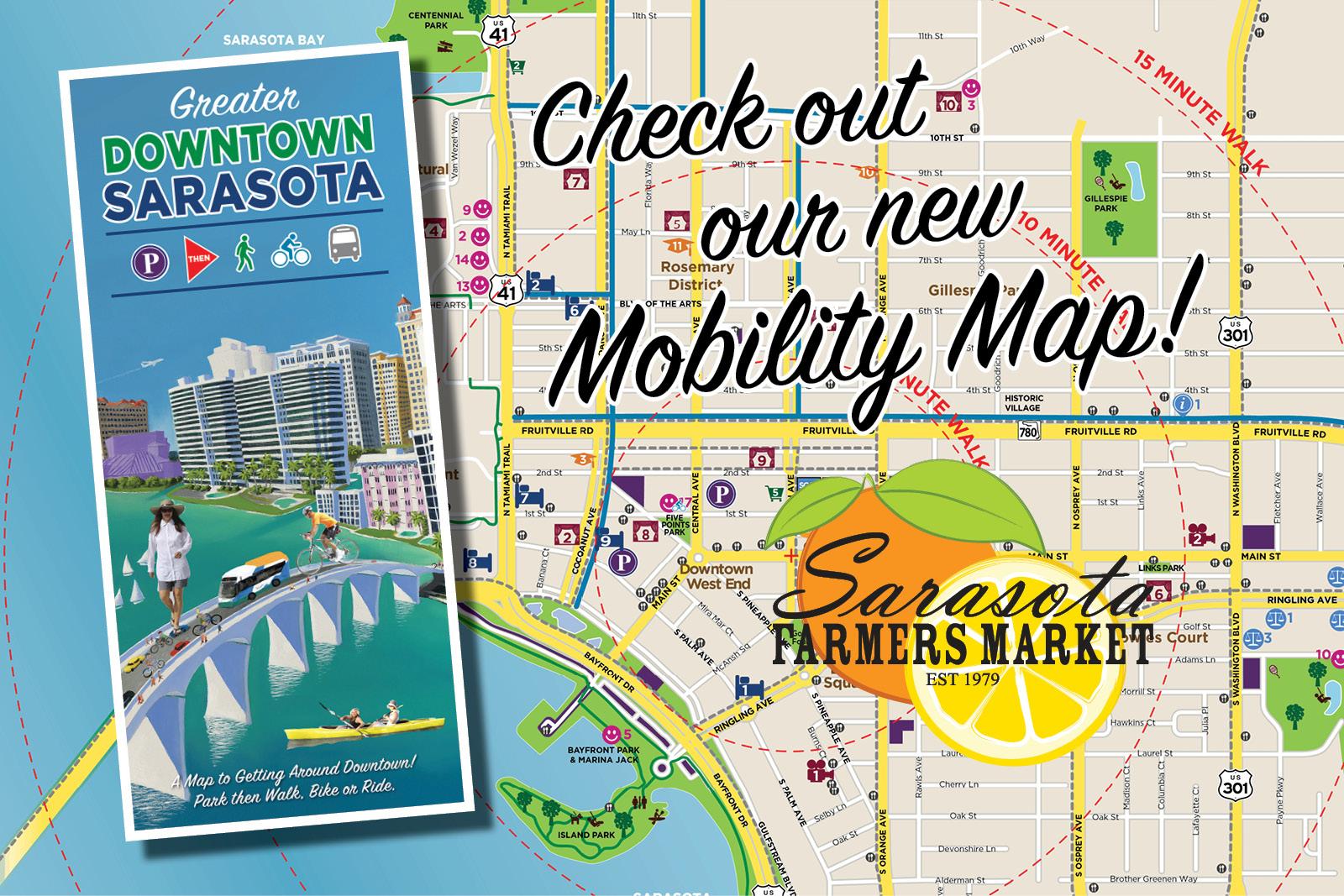Greater Downtown Sarasota Mobility Map Now Available » Sarasota - Rosemary Florida Map