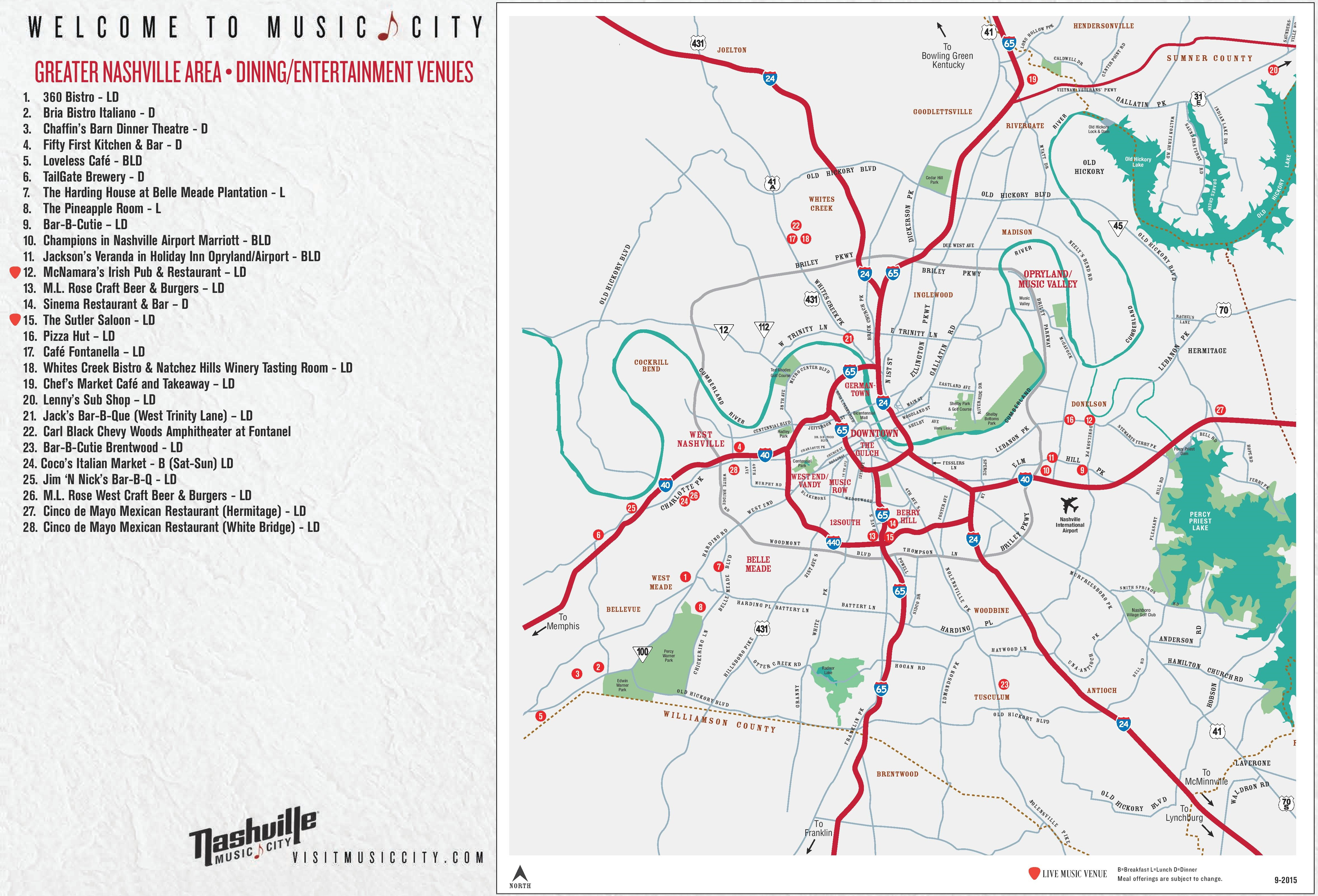 Greater Nashville Map - Printable Map Of Nashville