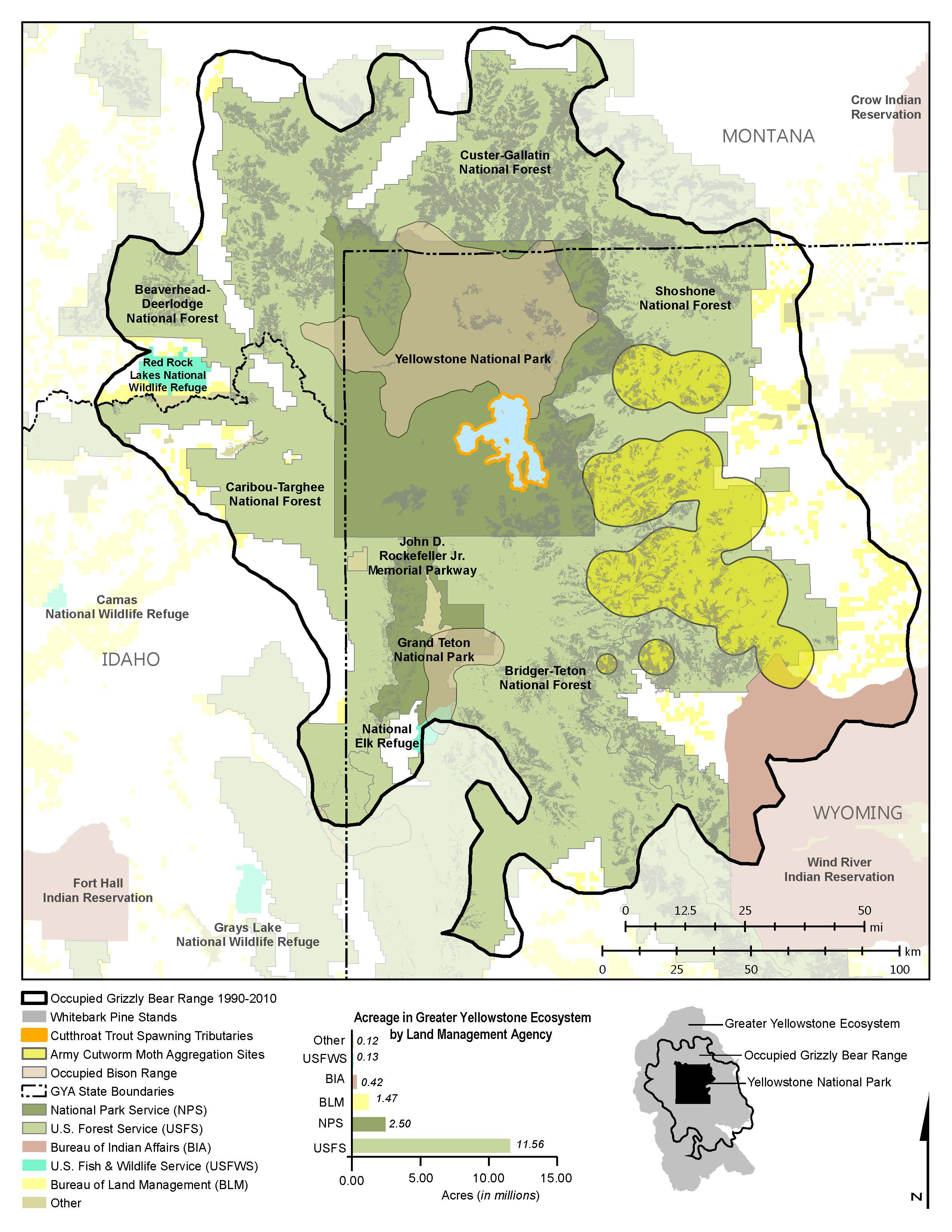 Grizzly Bears: Ultimate Omnivores Of The Greater Yellowstone - Bears In California Map