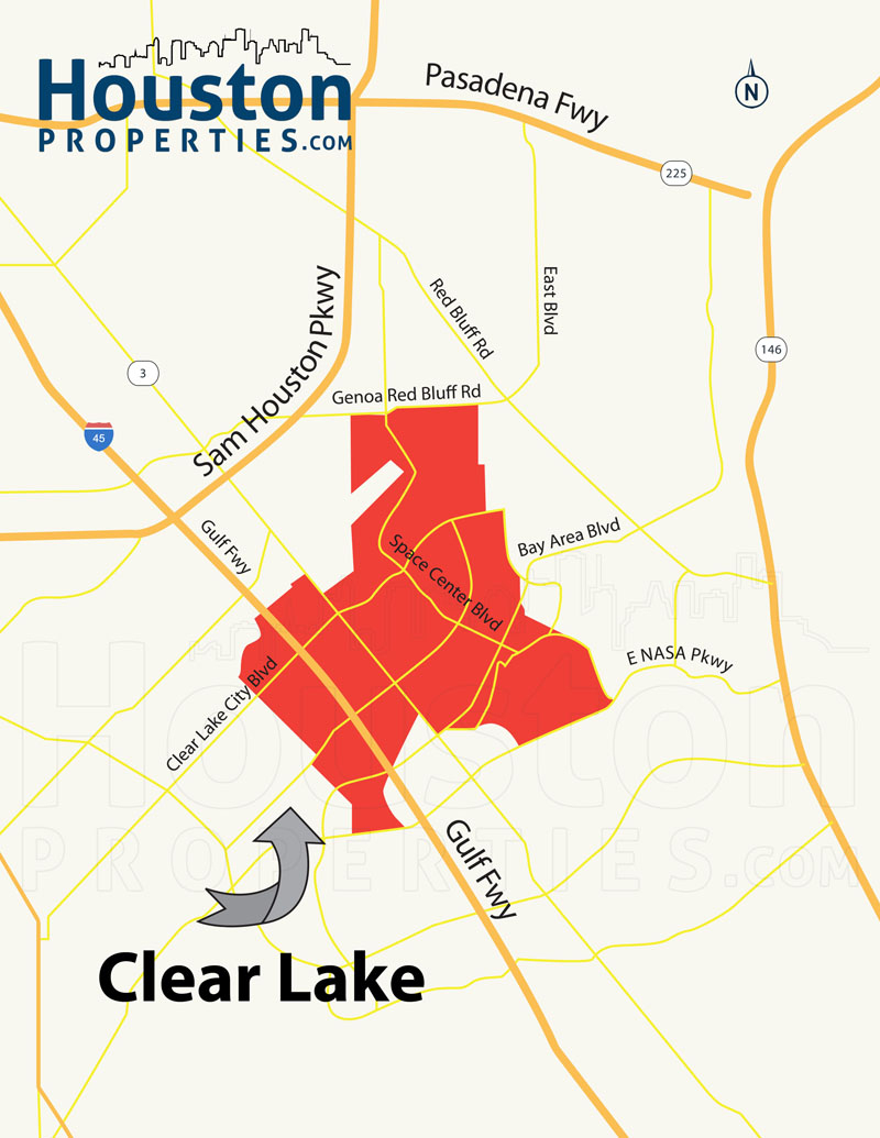 Guide To Clear Lake Houston Tx | Clear Lake Homes For Sale - Clear Lake Texas Map