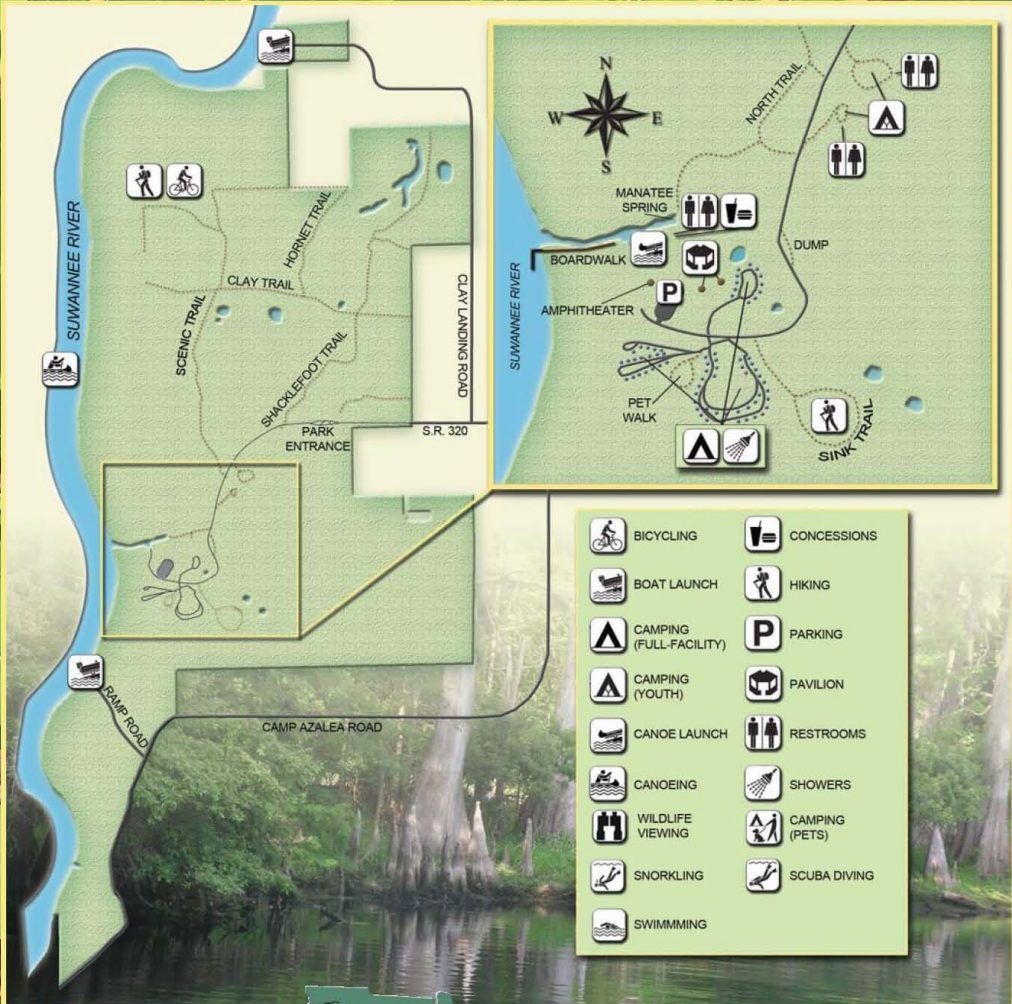 Guide To Springs In North Florida - Natural Springs Florida Map