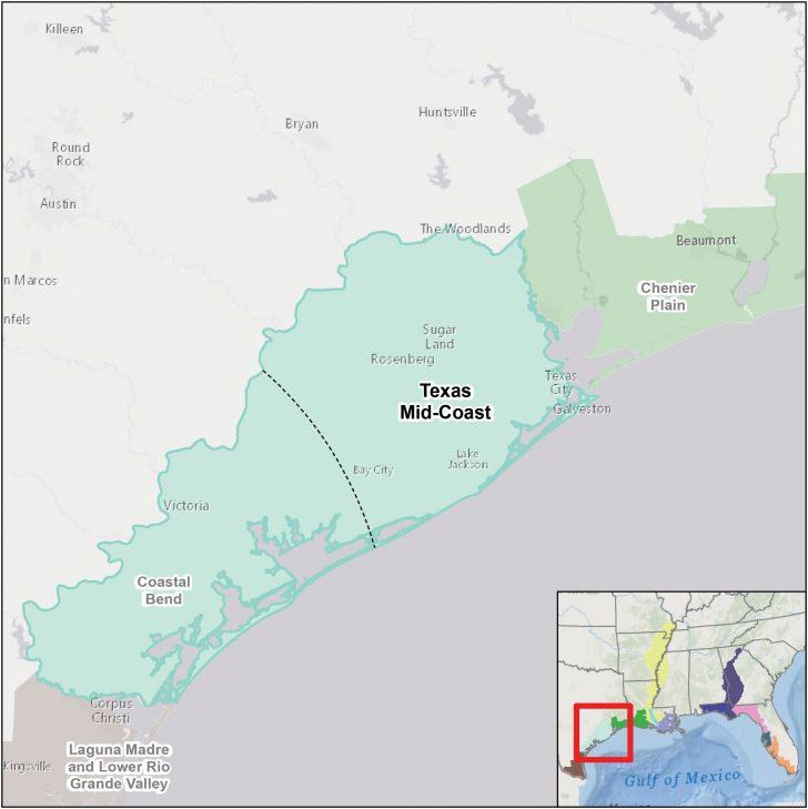 Map Coastal Texas